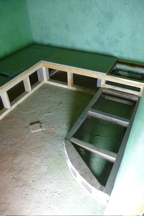 Hammam tadelakt meuble bois tadelakt vasques en tadelakt baignoire en tadela - Construire une banquette ...
