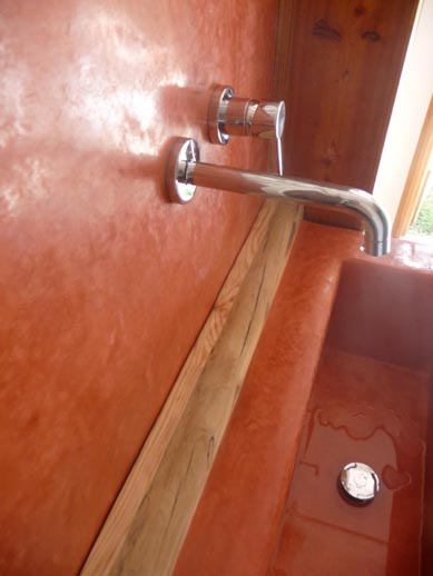 vasque en tadelakt